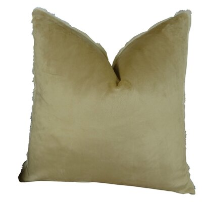 Fancy Mink Handmade Throw Pillow Size: 22 H x 22 W