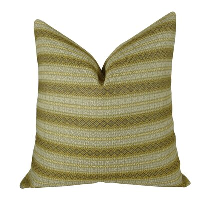 Full Stripe Handmade Throw Pillow  Size: 16 H x 16 W