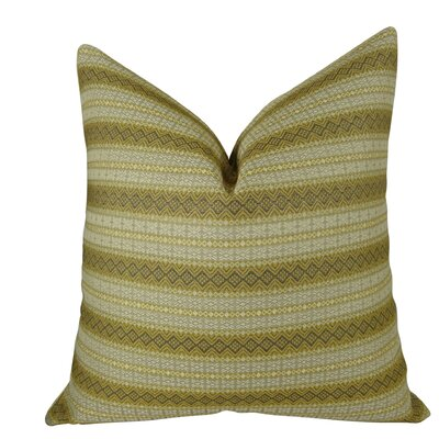 Full Stripe Handmade Throw Pillow  Size: 18 H x 18 W