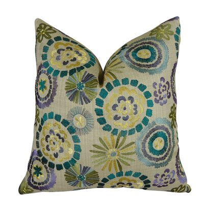 Electron Handmade Throw Pillow  Size: 16 H x 16 W