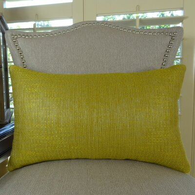 Lemon Curry Double Sided Cotton Lumbar Pillow Size: 12 H x 20 W