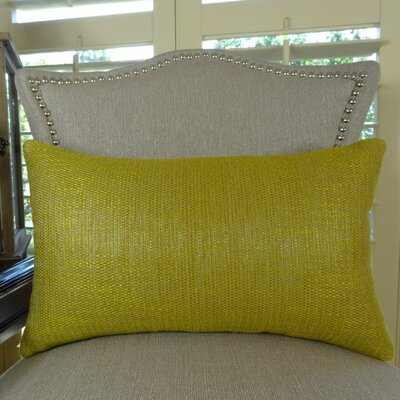 Lemon Curry Cotton Lumbar Pillow Size: 12 H x 20 W