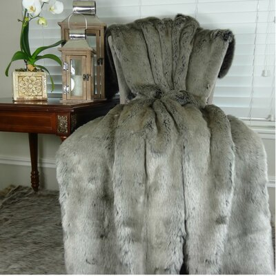 Throw Color: Gray, Size: 108 L x 90 W
