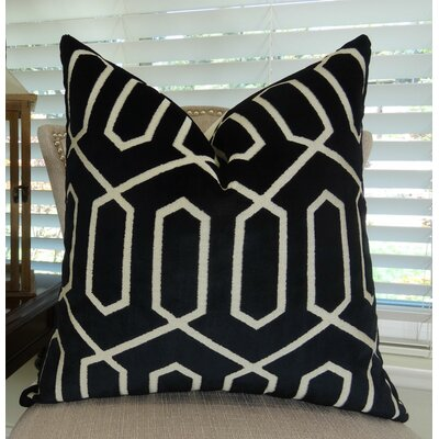 Bengal Lattice Throw Pillow Size: 22