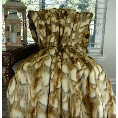 Brandy Fox Faux fur Fox Throw Size: 90 L x 90 W