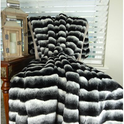 Faux fur Throw Size: 116 L x 102 W