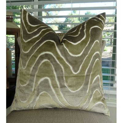 Lush Wave Throw Pillow Size: 24 H x 24 W
