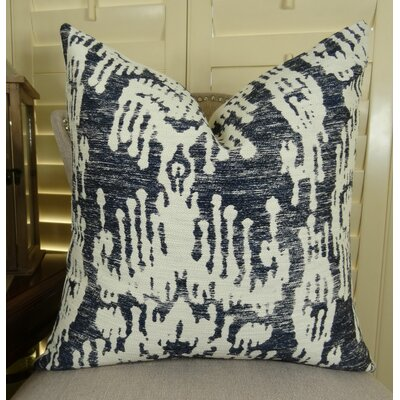 Painted Ikat Throw Pillow Size: 18 H x 18 W