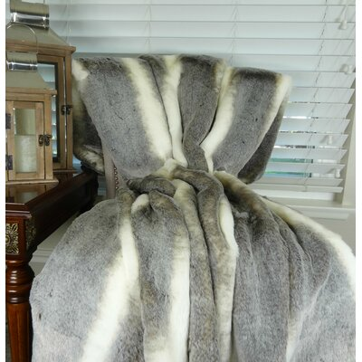 Faux Fur Throw Size: 84 L x 60 W