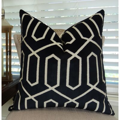 Bengal Lattice Throw Pillow Size: 20 H x 20 W