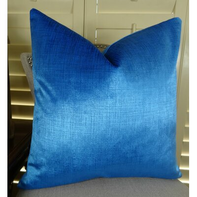 Lumiere Azure Throw Pillow Size: 18