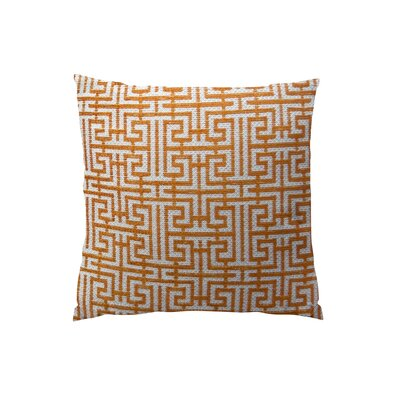 Maze Handmade Throw Pillow  Size: 16 H x 16 W