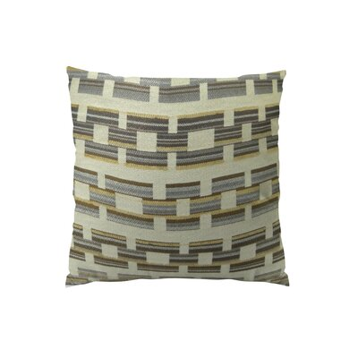 Square Link Handmade Throw Pillow  Size: 18 H x 18 W