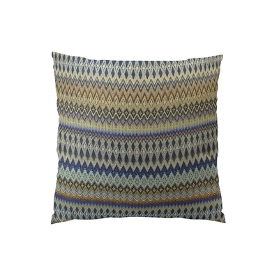Zig Along Handmade Throw Pillow  Size: 16 H x 16 W
