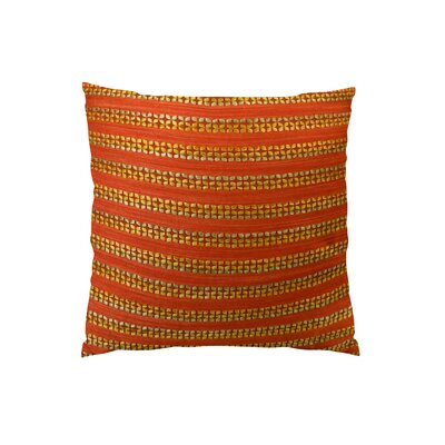Tied Rows Throw Pillow - Double Sided Size: 26 H x 26 W