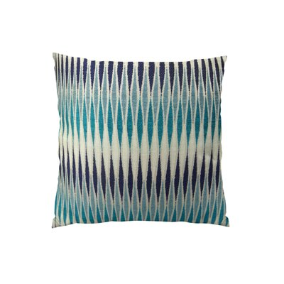 Thames River Cobalt Handmade Throw Pillow  Size: 26 H x 26 W