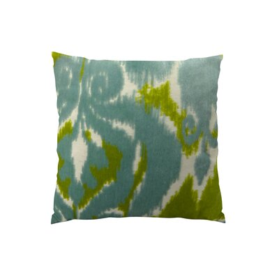 Velvet Bliss Water Double Sided Throw Pillow Size: 18 H x 18 W
