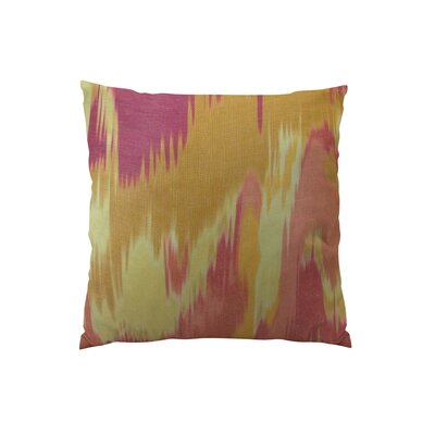 Olavanna Ikat Double Sided Throw Pillow Size: 18 H x 18 W