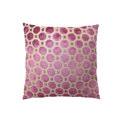 Velvet Geo Handmade Throw Pillow - Double Sided Size: 18 H x 18 W