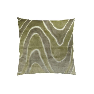 Lush Wave Throw Pillow Size: 18 H x 18 W