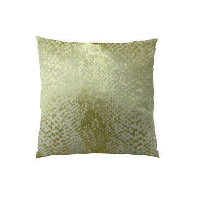 Hidden World Handmade Throw Pillow Size: 26 H x 26 W, Color: Gold