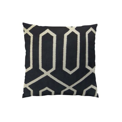 Bengal Lattice Throw Pillow Size: 24 H x 24 W