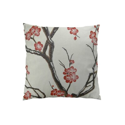Japanese Blossom Throw Pillow Size: 22 H x 22 W