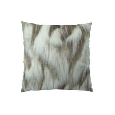 Bessey Handmade Faux Throw Pillow Size: 18 H x 18 W