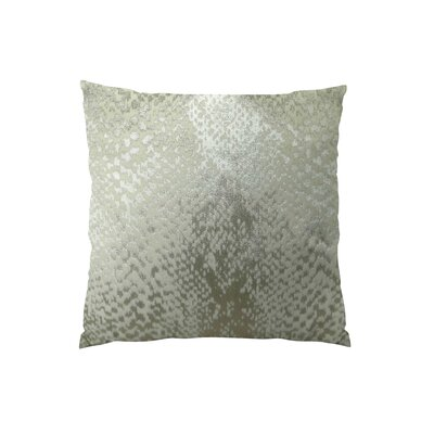 Hidden World Handmade Throw Pillow Size: 26 H x 26 W, Color: Silver