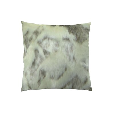 Rabbit Fur Handmade Throw Pillow  Size: 24 H x 24 W