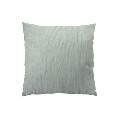 Curly Mongolian Fur Handmade Throw Pillow  Size: 18 H x 18 W