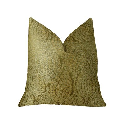 Leaf Pod Handmade Throw Pillow  Size: 24 H x 24 W