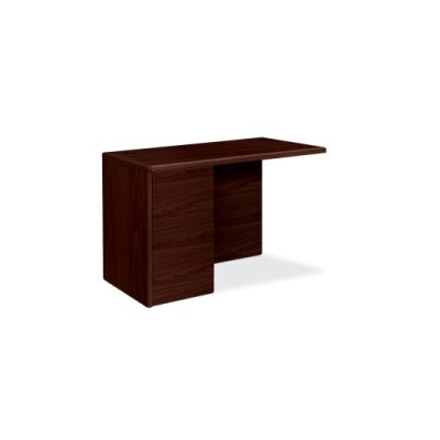 10700 Series 29.5 H x 48 W Left Desk Return Finish: Mahogany