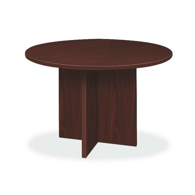 4' Circular Conference Table Color: Mahogany