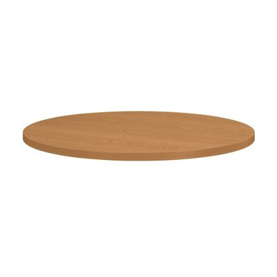 Self-Edge Round Hospitality Table Top Size: 36 Dia, Color: Harvest