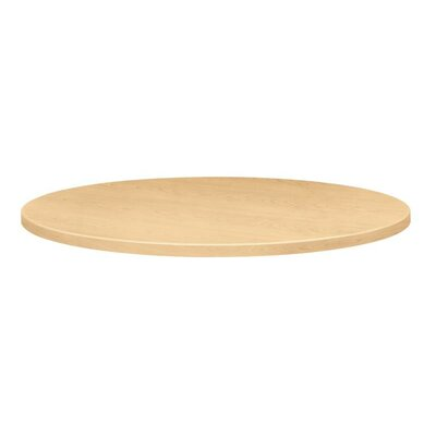 Self-Edge Round Hospitality Table Top Size: 36 Dia, Color: Natural Maple