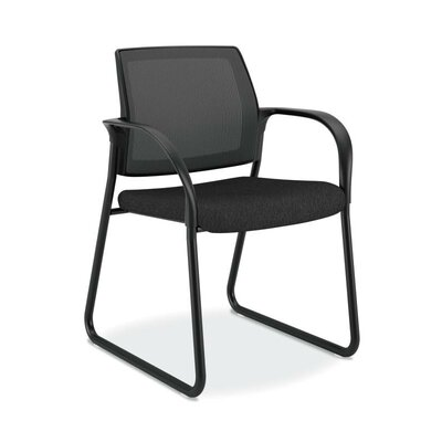 Ignition Sled Guest Chair Color: Black