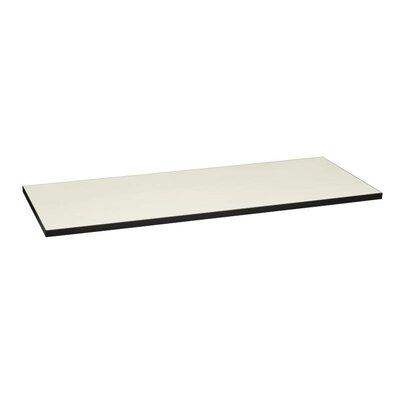 Huddle Rectangle Table Top Color: Silver Mesh/Black