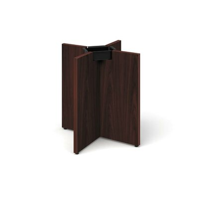 Preside Laminate X-Base Table Base Color: Mahogany