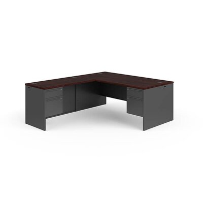 38000 Series L-Shaped Computer Desk Finish: Mahogany Charcoal, Orientation: Desk on the Right Product Picture 387