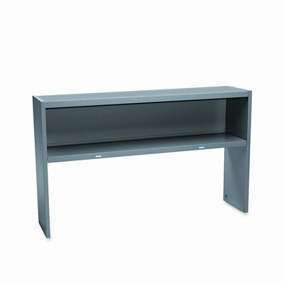 38000 Series 36.25 H x 60 W Desk Hutch Finish: Mahogany/Charcoal