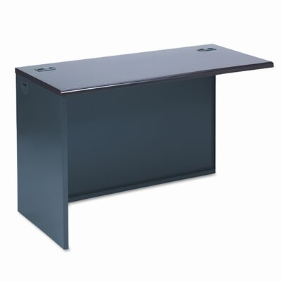 38000 Series 29.5 H x 48 W Left Desk Return Finish: Mahogany & Charcoal