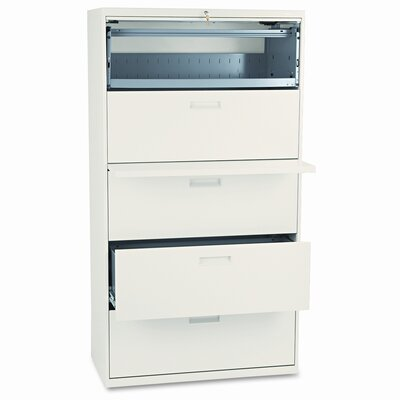 500 Series 5-Drawer Mobile File Finish: Putty 1874 Product Photo