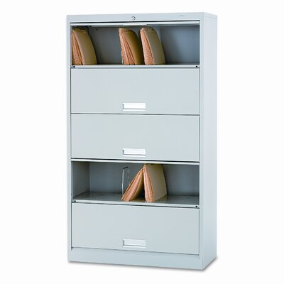 600 Series 16.75D 5-Drawer Legal File FInish: Light Gray Product Image 40