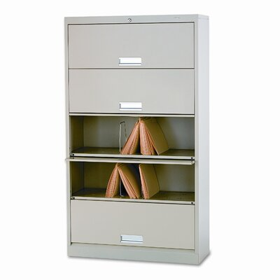 600 Series 13.75D 5-Drawer Letter File Finish: Putty Product Image 109