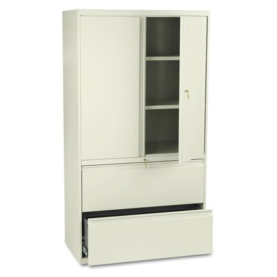 800 Series 2 Door Storage Cabinet Width: 36 W, Finish: Putty Product Image 1810