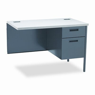 Metro Classic 29.5 H x 42 W Right Desk Return Finish: Gray Patterend & Charcoal