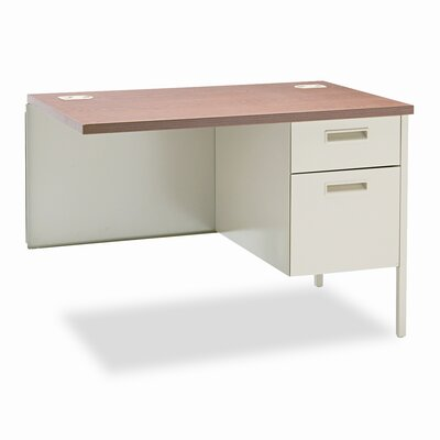 Metro Classic 29.5 H x 42 W Right Desk Return Finish: Medium Oak & Putty