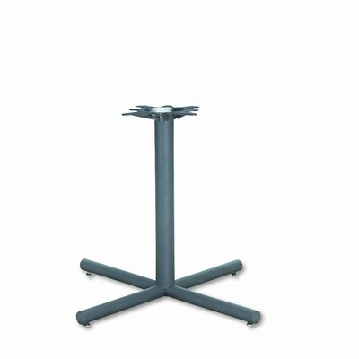Single Column Steel Base, 36w x 36d x 27-7/8h, Black