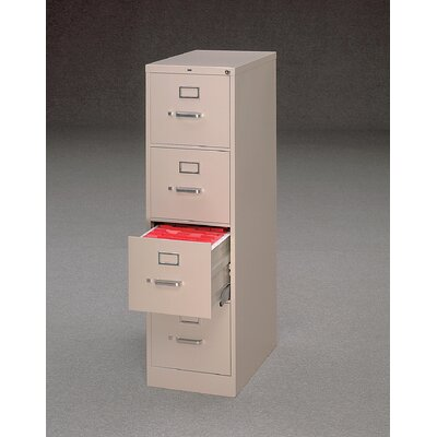 HON 510 Series Four-Drawer Letter Vertical File Cabinet w/ Free Box of File Folders - Finish: Light Gray at Sears.com